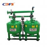 Stainless Steel Irrigation Sand Filter , Cooling Water Recycle 28 Inch Sand Filter