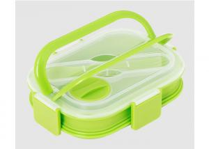 Quality Pure Silicone Eco Lunch Box Microwave SafeMulti Color Choice Heat - Resistant for sale