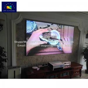 China manual projector screen PET anti-optical short focus projector laser screen home projector screen on sale