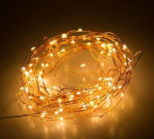 China 10M / 10 Micro LEDs Battery Powered  Long Ultra Thin Copper Wire String Light, Decor Rope Light with Remote Control on sale