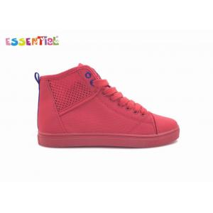 Breathable Solid Casual Canvas Sneakers Customized Size Cotton Fabric Lining