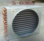 Condensador evaporativo de refrigeração do condensador da aleta do tubo de cobre ar de alumínio