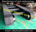 high quality 10 ton drilling rig steel track undercarriage (steel crawler chassis)