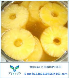 China Factory Price Premium Delicious Canned Pineapple Slices in Light Syrup on sale