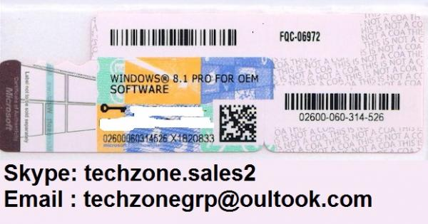 Windows product key sticker win 8 1 pro oem coa label x18 - Product activation required office 2010 ...