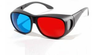 China Fashion comfortable kids Linear Polarized stereo anaglyph 3D glasses For comic books, TV on sale