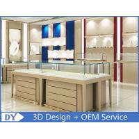 China High End Wood Gold Shop Furniture Jewelry Showroom Interior Design on sale