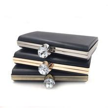 China Luxury handbag hardware silver plastic shell metal clutch frame on sale