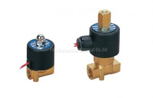 China 4mm Orifice Mini Brass Direct Drive 2 Way Pneumatic Solenoid Valve on sale