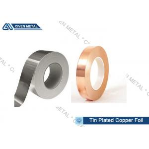 China Customized Double Side Tin Plated Copper Foil Roll With High Peel Strength on sale