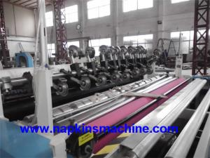 China Automatic Jumbo Roll Paper Slitting Machine , Toilet Roll Processing Slitter Machine on sale