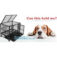 Hot Sale Dog Cage with Wheel 78X41.5X47 CM(Best Quality, Direct Factory, Low Price, Fast Delivery), Custom heavy duty Al