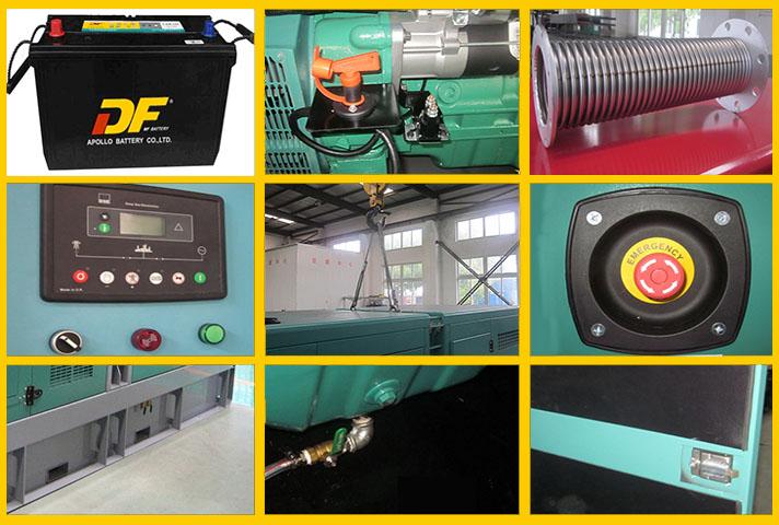 220kw 275kva Portable Diesel Generator , Commercial Cummins Engine Generator