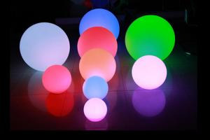 China IP65 16 Color Changing LED Night Light Battery Operated / LED Floating Ball on sale