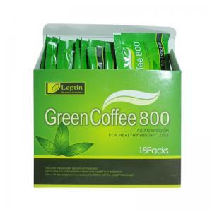 Quality レプチンの健康な減量の食事療法の飲み物のための緑のコーヒー800豆のエキス for sale
