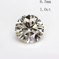 6.5mm 1.0ct round shape loose moissanites stone synthetic beads for engagement rings retail price