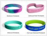 2Д или 3Д Дебоссед подгоняли браслеты силикона для подарков продвижения, домашнего украшения БДЖ-К009
