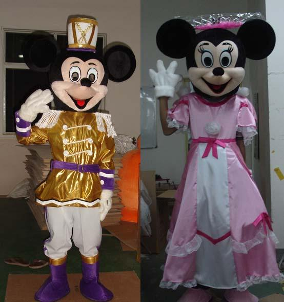 adult full-body mickey minnie cartoon mascot costumes of prince and princess dress Images & adult full-body mickey minnie cartoon mascot costumes of prince and ...