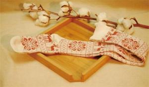 China Vintage style classic christmas deer patterned design pure cotton winter thick dress socks on sale