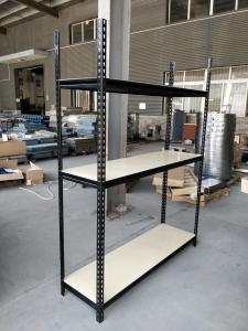 China Light Duty Rivet Rack Shelving , Steel Material Boltless Warehouse Shelving supplier