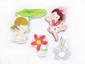 China Funny Girls Flower Magnetic Bookmarks Personalized with 125 x 24mm Unfolded on sale