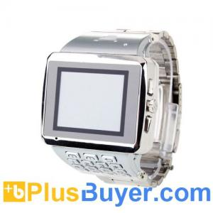 China Quad-band Dual SIM Standby Wi-Fi Cell Phone Watch - Silver on sale