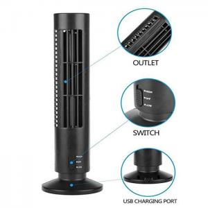 China Creative Household Mini Tower Fan , USB Tower Desk Fan With Manual And Remote Control on sale