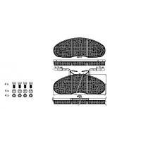 China METAL,CERAMIC, SEMI METALLIC BRAKE PADS AUTO PARTS CAR ACCESSORIES USE FOR NISSAN 5001 834 527 on sale