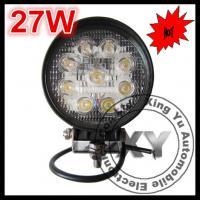 27W RoundAutomovite Led working Light Motorcycles Work Lamp Led Construction Light In Spo