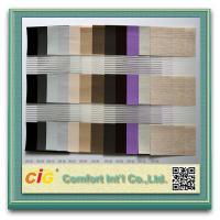 Zebra Blind Modern Home Textile Fabric / Decorative Curtain Fabric Striped