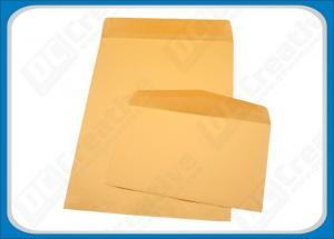 China Printing Gummed Seal Wallet Rigid Mailing Envelopes , Origin Kraft Paper With Water-Based Glue on sale