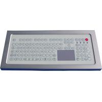 China USB Industrial Membrane Desktop Keyboard  , Compact Keyboard With Touchpad on sale