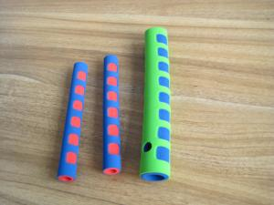China Heat Insulation Colorful Silicone Foam Tube , Protective Sleeve Padding Material Foam on sale