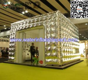 China Portable Great  Inflatable Cube Tent For Exhibition / Cabin Tent on sale