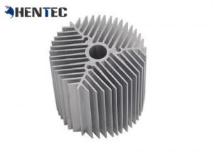 China Silvery Anodized Aluminum Heatsink Extrusion Profiles For Led on sale