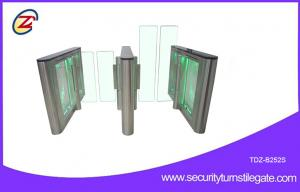 China Pedestrian waist height Fast Speed Gate Turnstile entrance Green LED Light on sale