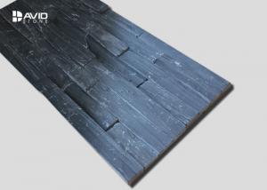 China Decorative Slate Cultured Stone , Grey Slate Wall Cladding Abrasion Proof on sale