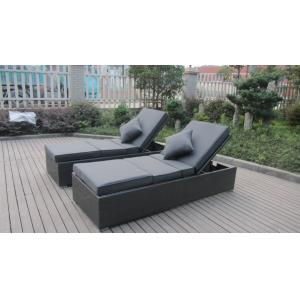 China Contemporary Rattan Sun Lounger , Outdoor Beach Lounge Chair Set on sale