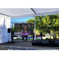 Waterproof LED Display Flexible Video Screen , P 7.8mm Outdoor LED Advertising Screens