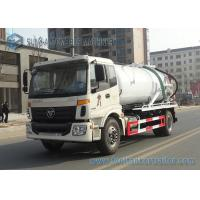 FOTON Auman 4x2 Vacuum Tank Truck / Vehicle Mounted Water Tanks Capacity 10m3