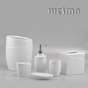 China Circulaire White Ceramic Bathroom Accessories Set on sale