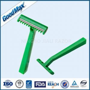 China Extremely Sharp Medical Razor Disposable Single Blade Medical Razor Green Color on sale