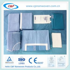 Quality disposable custom/OEM abdominal surgery Laparotomy drape pack for sale