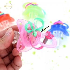 China Whistle Led Flashing Necklace Light Up Pacifier Necklace For Christmas Bar Party on sale