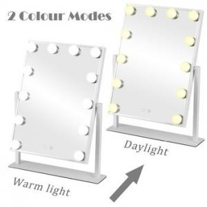 China Tabletops Led MakeUp Mirror With LED Bulb & Dimmer USB Powered on sale