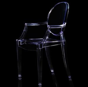 China Comfortable Crystal Ice Acrylic Kartell Louis Dining Chairs Single Mould  for Hotel on sale