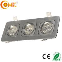18W High Power Brush Black Square zhongshan guzhen led down light with CE&RoHS certification