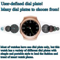 MTK2502C 1.3 Inches HD IPS Round-shaped Screen Smart Watch Phone Supports GSM quad-band SIM card and TF card