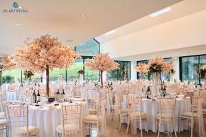 China Eco Friendly Wedding Tree Decorations , Elegant Cherry Blossom Fake Plant on sale