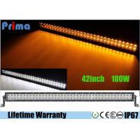 240W 2 Rows Tele Control Led Warning Light Bar , 42 Inch Amber Light Bar